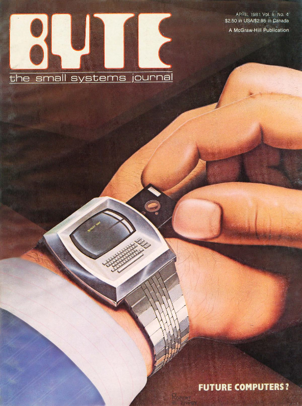 L'ordinateur du futur ? (Couverture du BYTE volume 6 n° 4, avril 1981)