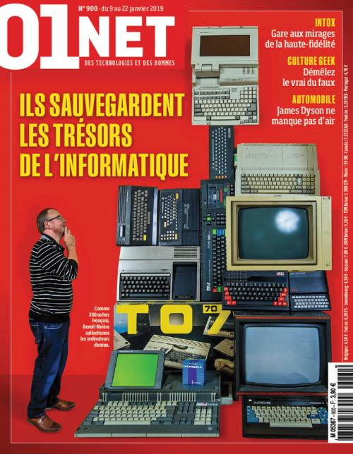 Couverture du n° 900 de 01net Magazine (du 09 au 22 janvier 2019)