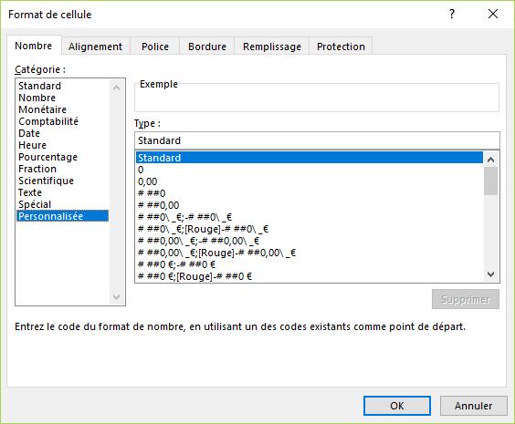 Excel - Format personnalisé