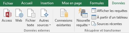 Excel - Menu Données (Sources)