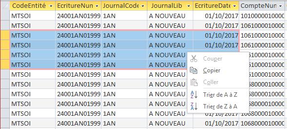 ACCESS - Copier données