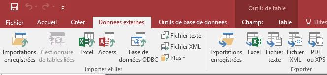 ACCESS - Menu Données externes Excel