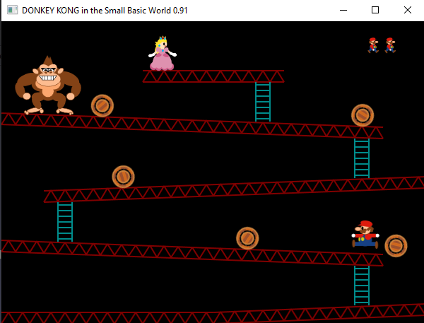 DONKEY KONG in the Small Basic