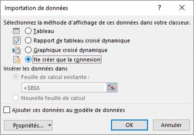 Excel - Données ACCESS (importation de données)
