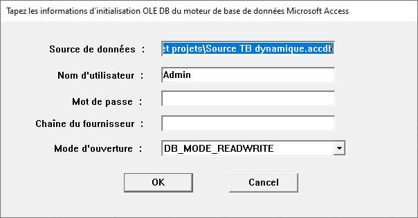 Excel - Données ACCESS (initialisation OLE DB)