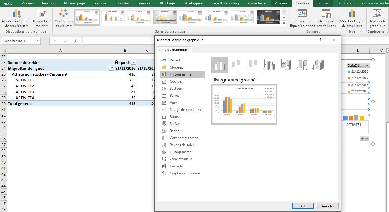 Excel - Options graphiques