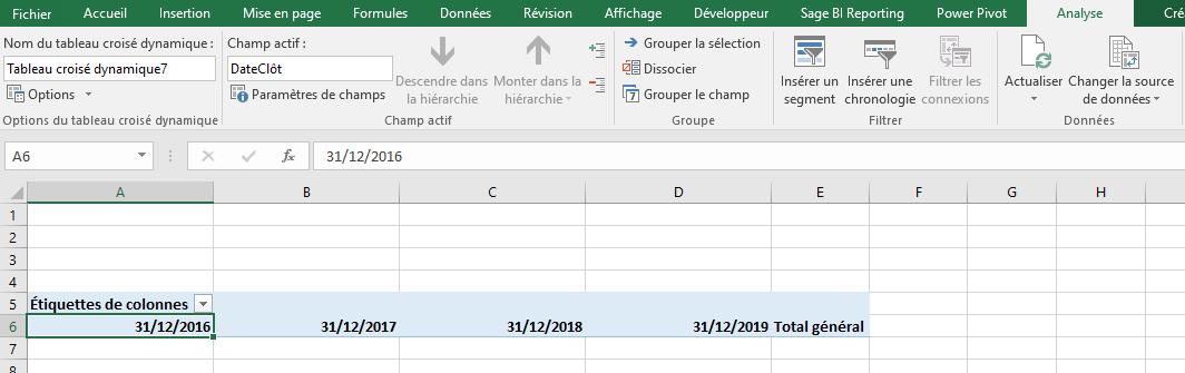 Excel - TCD Menu Analyse date dissociée