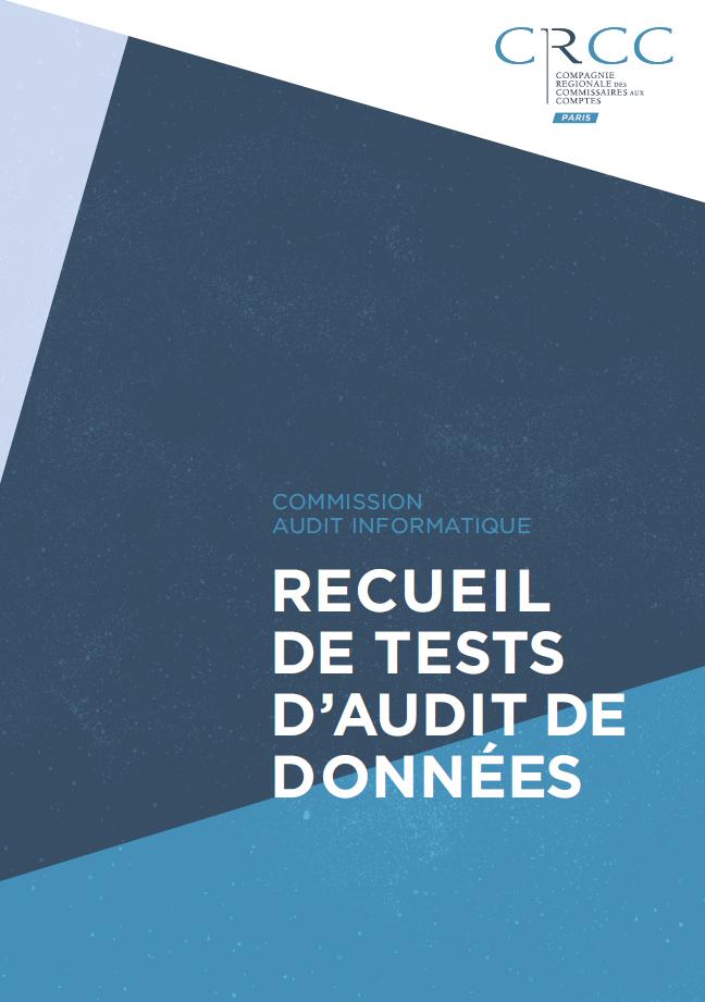 CRCC PARIS Couverture recueil tests audit données