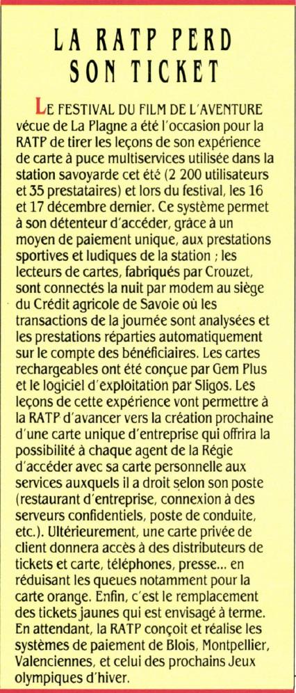 La RATP perd son ticket, SVM n° 68 (janvier 1990), p. 18