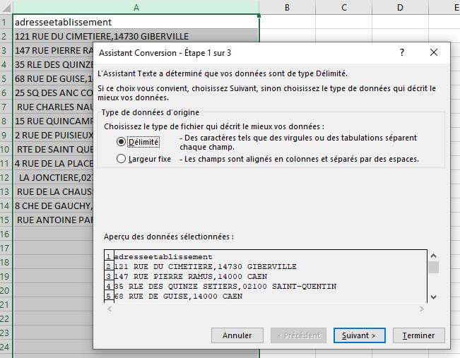 Excel - Conversion Données 2