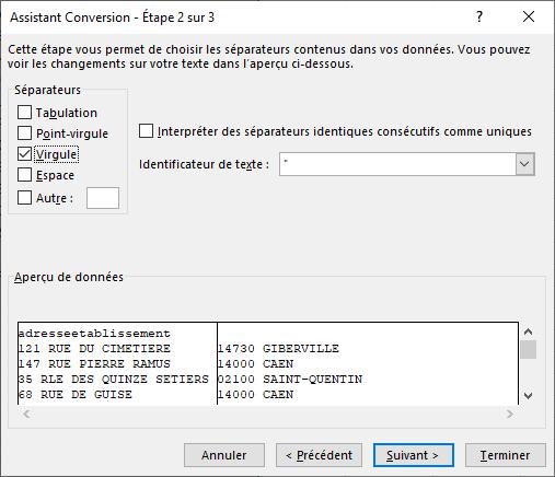 Excel - Conversion Données 3