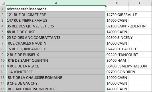 Excel - Conversion Données 4