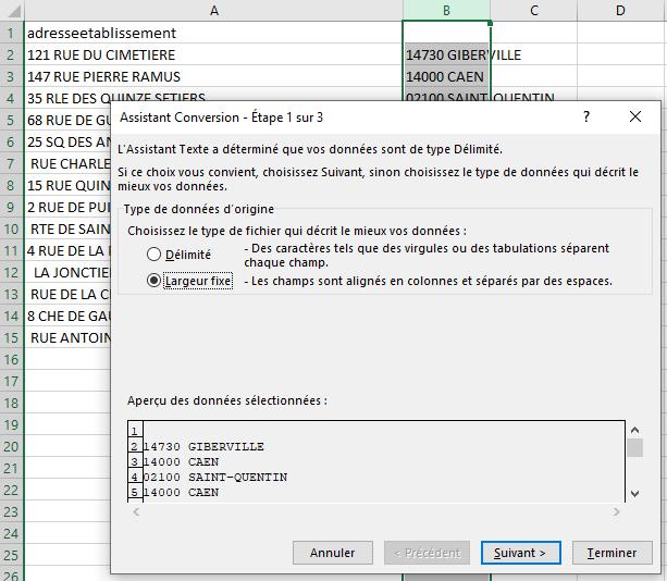 Excel - Conversion Données 5