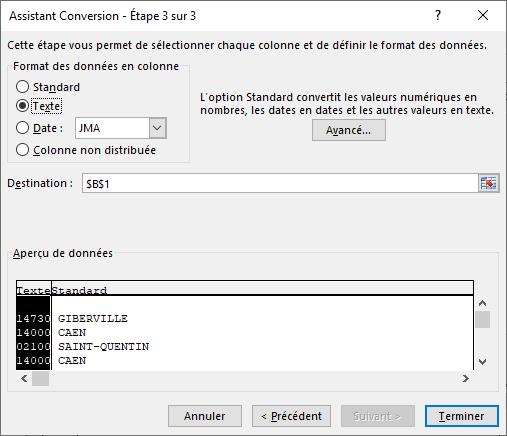 Excel - Conversion Données 7