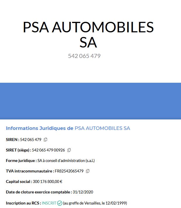 Pappers.fr PSA 542 065 479